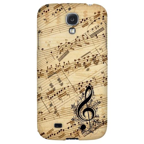 Allegro Grunge - Geeks Designer Line Music Series Hard Back Case for Samsung Galaxy S4