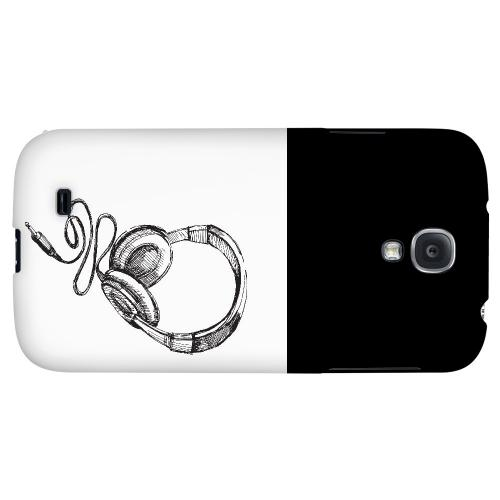 Head Bobbing Black - Geeks Designer Line Music Series Hard Back Case for Samsung Galaxy S4