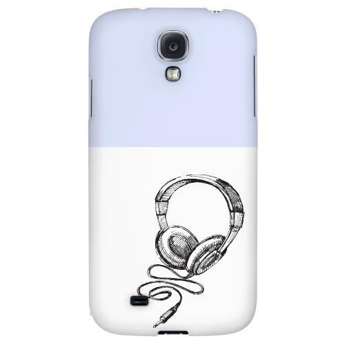 Head Bobbing Faint Blue - Geeks Designer Line Music Series Hard Back Case for Samsung Galaxy S4