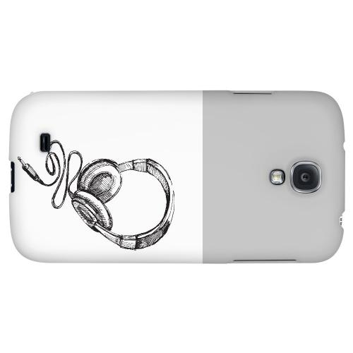 Head Bobbing Gray - Geeks Designer Line Music Series Hard Back Case for Samsung Galaxy S4