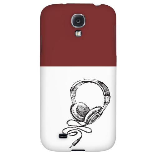 Head Bobbing Maroon - Geeks Designer Line Music Series Hard Back Case for Samsung Galaxy S4