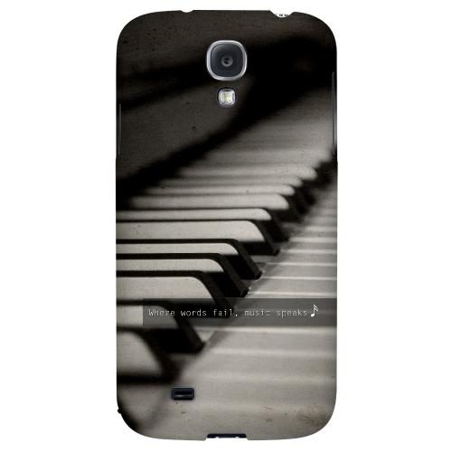 Music Speaks - Geeks Designer Line Music Series Hard Back Case for Samsung Galaxy S4