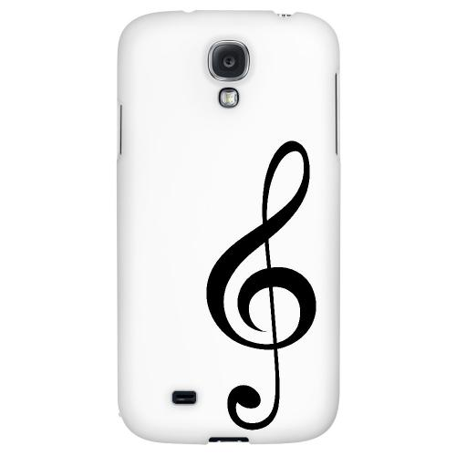 Simple Treble Clef - Geeks Designer Line Music Series Hard Back Case for Samsung Galaxy S4