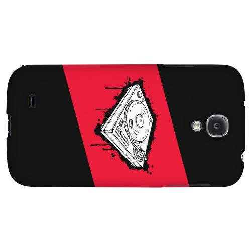 Wheel of Steel Red - Geeks Designer Line Music Series Hard Back Case for Samsung Galaxy S4
