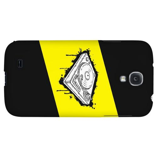 Wheel of Steel Yellow - Geeks Designer Line Music Series Hard Back Case for Samsung Galaxy S4