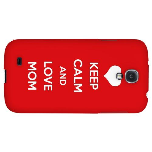 Love Mom - Geeks Designer Line Mom Series Hard Back Case for Samsung Galaxy S4