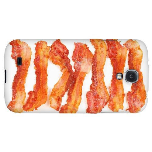 Bacon Goes Good - Geeks Designer Line Humor Series Hard Back Case for Samsung Galaxy S4