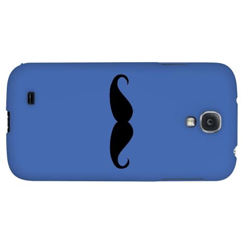 Mustache Blue - Geeks Designer Line Humor Series Hard Back Case for Samsung Galaxy S4