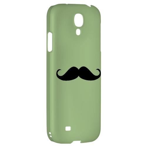 Mustache Greenish - Geeks Designer Line Humor Series Hard Back Case for Samsung Galaxy S4