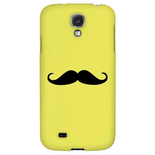 Mustache Yellow - Geeks Designer Line Humor Series Hard Back Case for Samsung Galaxy S4