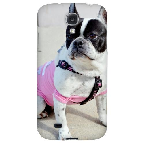 English Bulldog Mix - Geeks Designer Line Puppy Series Hard Back Case for Samsung Galaxy S4