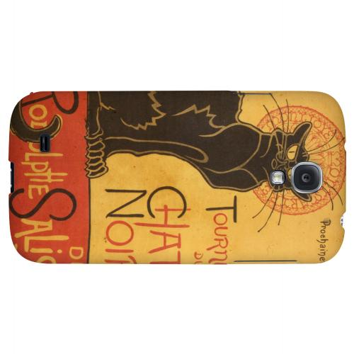 Le Chat Noir by Thophile-Alexandre Steinlen - Geeks Designer Line Artist Series Hard Back Case for Samsung Galaxy S4