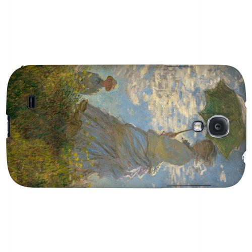 Woman with a Parasol - Madame Monet and Her Son by Claude Monet - Geeks Designer Line Artist Series Hard Back Case for Samsung Galaxy S4