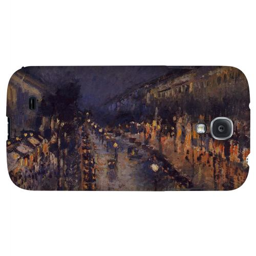 Boulevard Montmarte at Night by Camille Pisarro - Geeks Designer Line Artist Series Hard Back Case for Samsung Galaxy S4