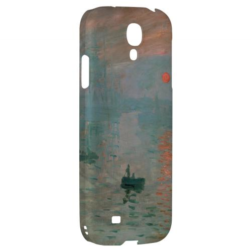 Impression Sunrise by Claude Monet - Geeks Designer Line Artist Series Hard Back Case for Samsung Galaxy S4