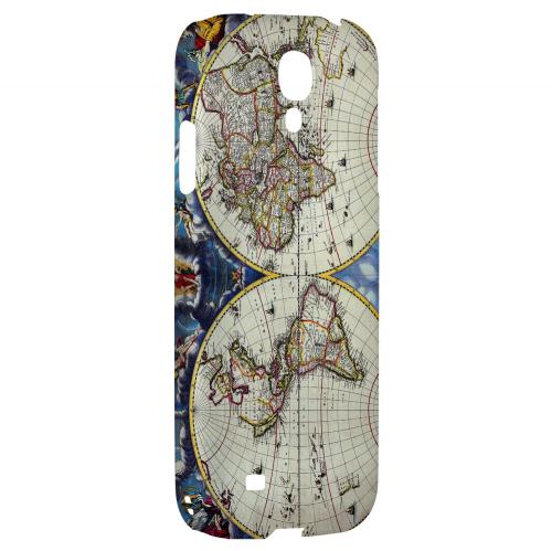 Terrarum Orbis Tabula Pictomap - Geeks Designer Line Map Series Hard Back Case for Samsung Galaxy S4