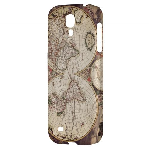 Terrarum Orbis - Geeks Designer Line Map Series Hard Back Case for Samsung Galaxy S4