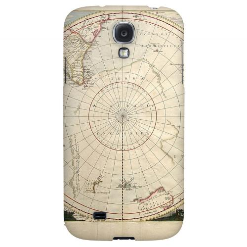 Terra Australis Incognita - Geeks Designer Line Map Series Hard Back Case for Samsung Galaxy S4