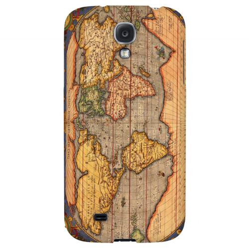 Ortelius World Map 1601 - Geeks Designer Line Map Series Hard Back Case for Samsung Galaxy S4