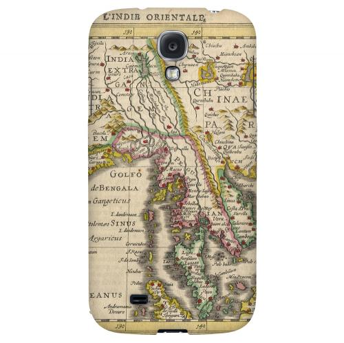 Indie Orientale - Geeks Designer Line Map Series Hard Back Case for Samsung Galaxy S4