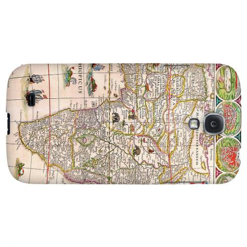 Map of Africae - Geeks Designer Line Map Series Hard Back Case for Samsung Galaxy S4