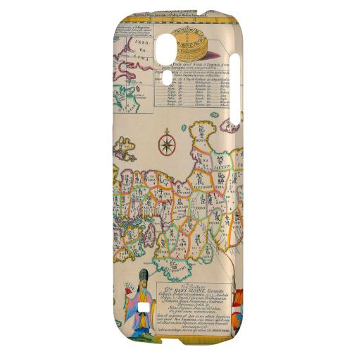 Old Japanese Empire Map - Geeks Designer Line Map Series Hard Back Case for Samsung Galaxy S4
