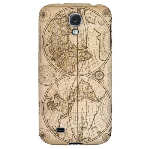 Carte Generale du Monde 1676 - Geeks Designer Line Map Series Hard Back Case for Samsung Galaxy S4