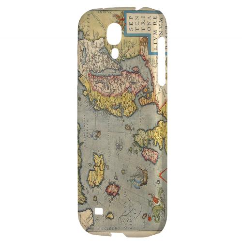 Ancient Map of Europe - Geeks Designer Line Map Series Hard Back Case for Samsung Galaxy S4