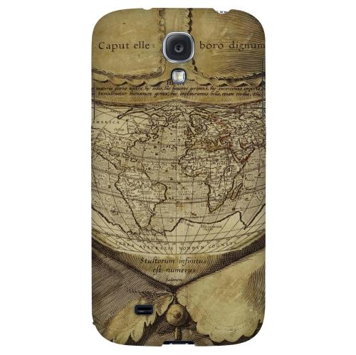 Ancient Map Head - Geeks Designer Line Map Series Hard Back Case for Samsung Galaxy S4