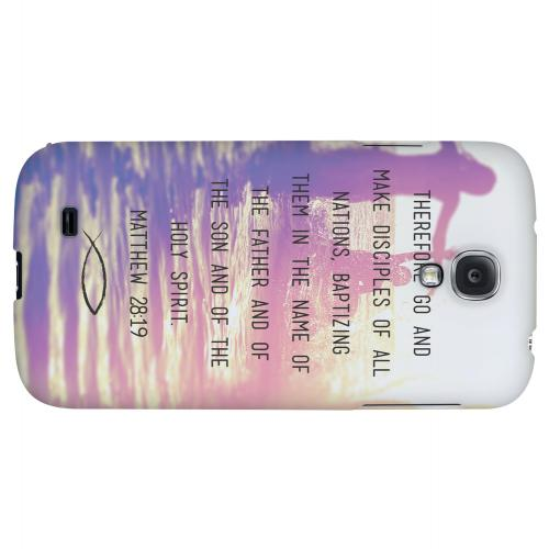 Matthew 28:19 - Geeks Designer Line Bible Series Hard Back Case for Samsung Galaxy S4