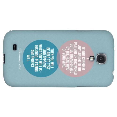 Romans 12:2 - Geeks Designer Line Bible Series Hard Back Case for Samsung Galaxy S4