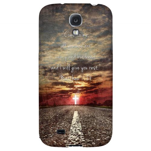 Matthew 11:28 - Geeks Designer Line Bible Series Hard Back Case for Samsung Galaxy S4