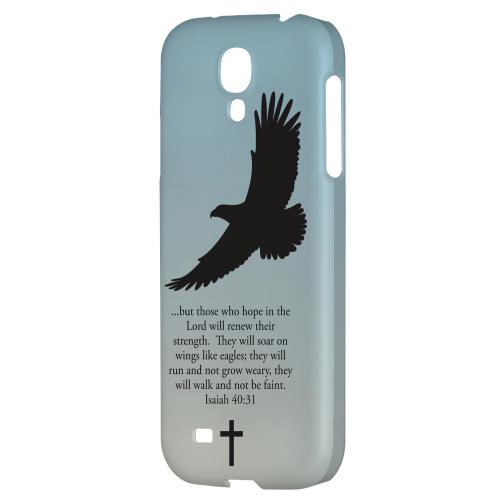 Isaiah 40:31 - Faint Blue - Geeks Designer Line Bible Series Hard Back Case for Samsung Galaxy S4