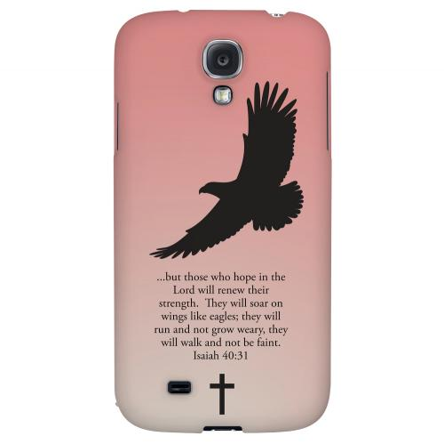 Isaiah 40:31 - Wisp Pink - Geeks Designer Line Bible Series Hard Back Case for Samsung Galaxy S4