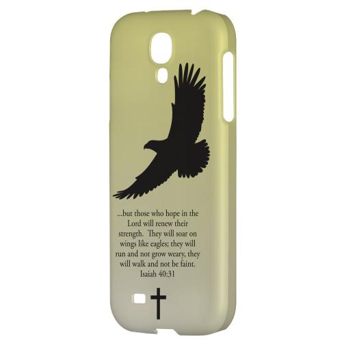 Isaiah 40:31 - Sunset Yellow - Geeks Designer Line Bible Series Hard Back Case for Samsung Galaxy S4