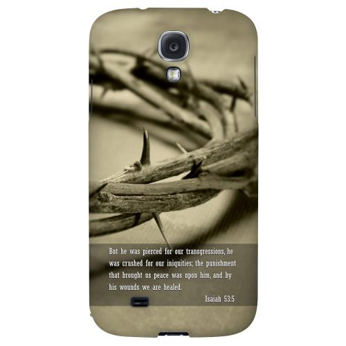 Isaiah 53:5 - Geeks Designer Line Bible Series Hard Back Case for Samsung Galaxy S4