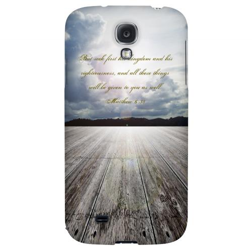 Matthew 6:33 - Geeks Designer Line Bible Series Hard Back Case for Samsung Galaxy S4