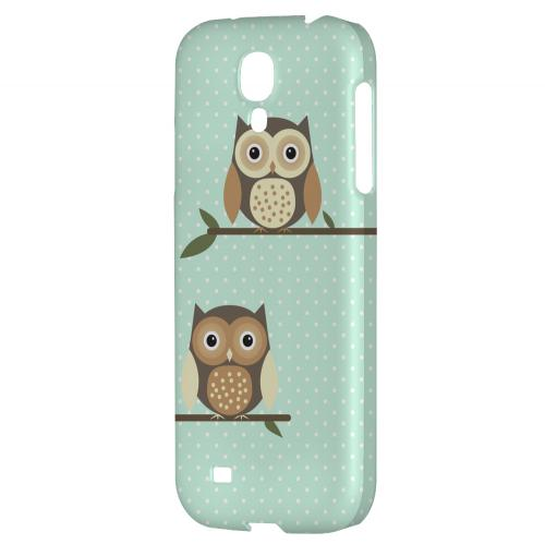 Retro Owls on Polka Dots - Geeks Designer Line Owl Series Hard Back Case for Samsung Galaxy S4
