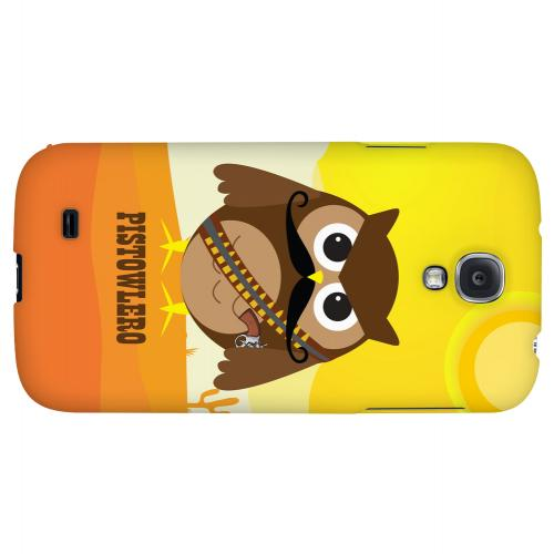 Pistowlero - Geeks Designer Line Owl Series Hard Back Case for Samsung Galaxy S4