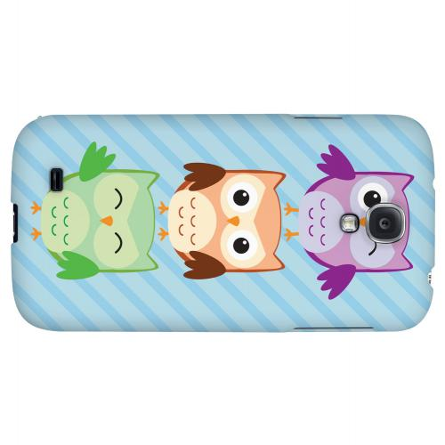 Happy Owl Pals - Geeks Designer Line Owl Series Hard Back Case for Samsung Galaxy S4