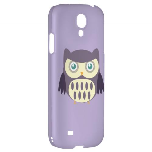 Chubby Purple Owl - Geeks Designer Line Owl Series Hard Back Case for Samsung Galaxy S4