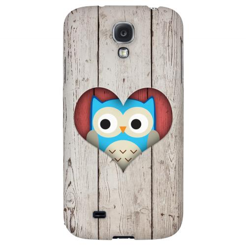 Peek A Blue Owl - Geeks Designer Line Owl Series Hard Back Case for Samsung Galaxy S4