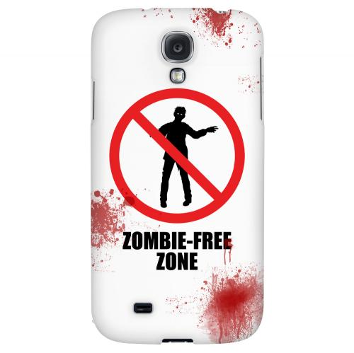 Zombie-Free Zone - Geeks Designer Line Apocalyptic Series Hard Back Case for Samsung Galaxy S4