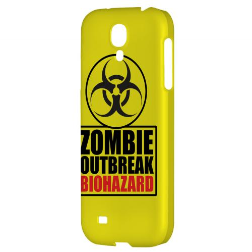 Zombie Outbreak Biohazard - Geeks Designer Line Apocalyptic Series Hard Back Case for Samsung Galaxy S4