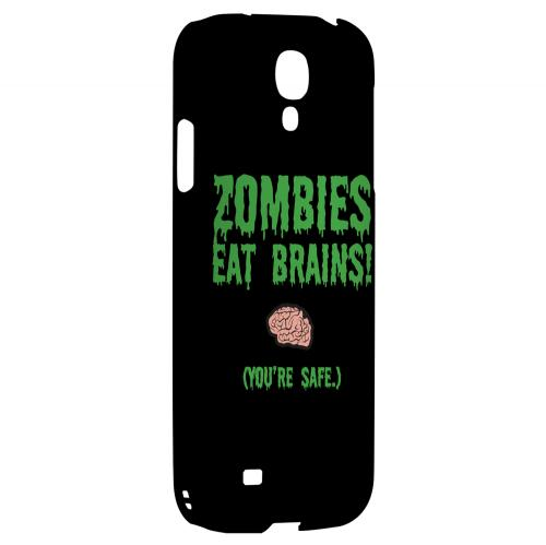Zombies Eat Brains - Geeks Designer Line Apocalyptic Series Hard Back Case for Samsung Galaxy S4