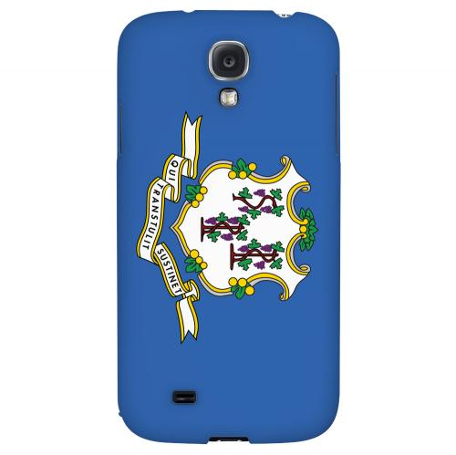 Connecticut - Geeks Designer Line Flag Series Hard Back Case for Samsung Galaxy S4