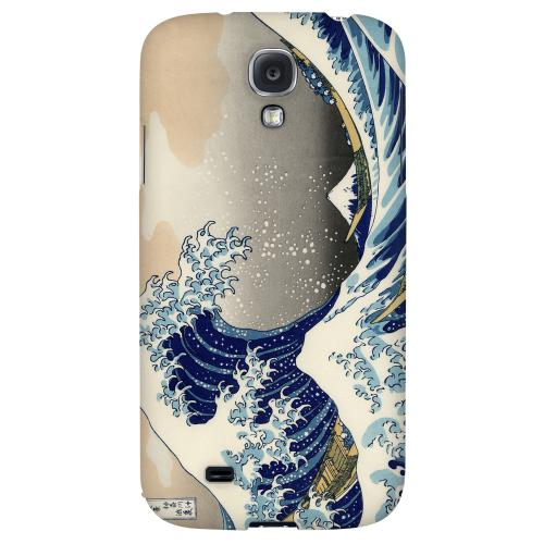 Katsushika Hokusai The Great Wave Off Kanagawa - Geeks Designer Line Artist Series Hard Back Case for Samsung Galaxy S4