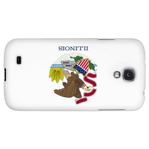 Illinois - Geeks Designer Line Flag Series Hard Back Case for Samsung Galaxy S4