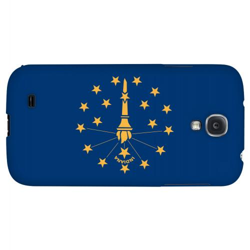 Indiana - Geeks Designer Line Flag Series Hard Back Case for Samsung Galaxy S4