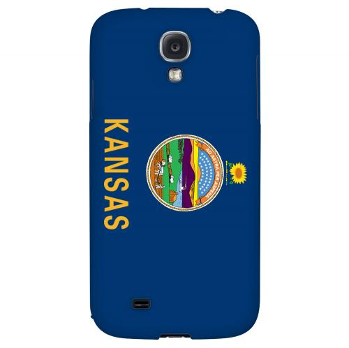 Kansas - Geeks Designer Line Flag Series Hard Back Case for Samsung Galaxy S4